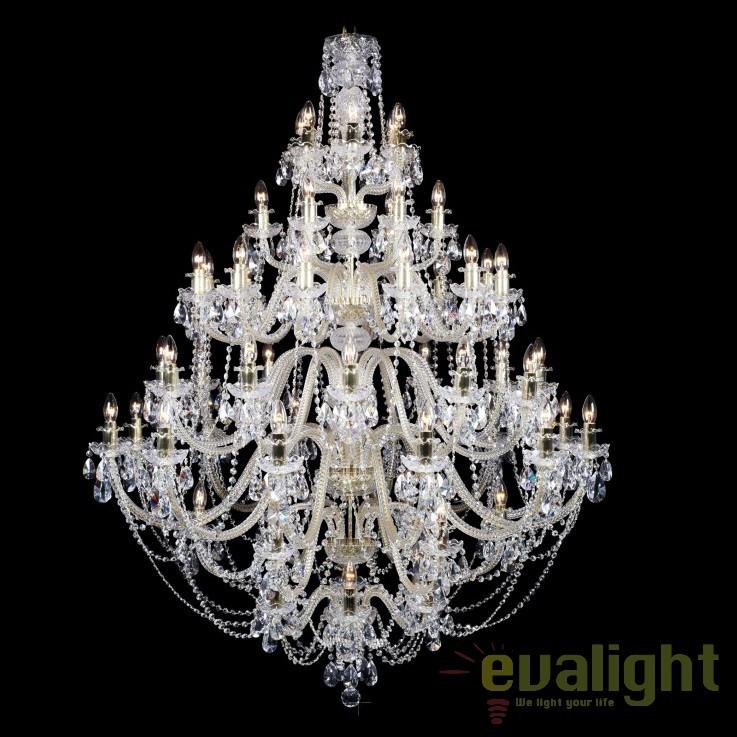 Candelabru XXXL cristal Bohemia diametru 175cm, 96 brate, L11 009/96/1-A; lip., Lustre Cristal Bohemia, Corpuri de iluminat, lustre, aplice, veioze, lampadare, plafoniere. Mobilier si decoratiuni, oglinzi, scaune, fotolii. Oferte speciale iluminat interior si exterior. Livram in toata tara.  a