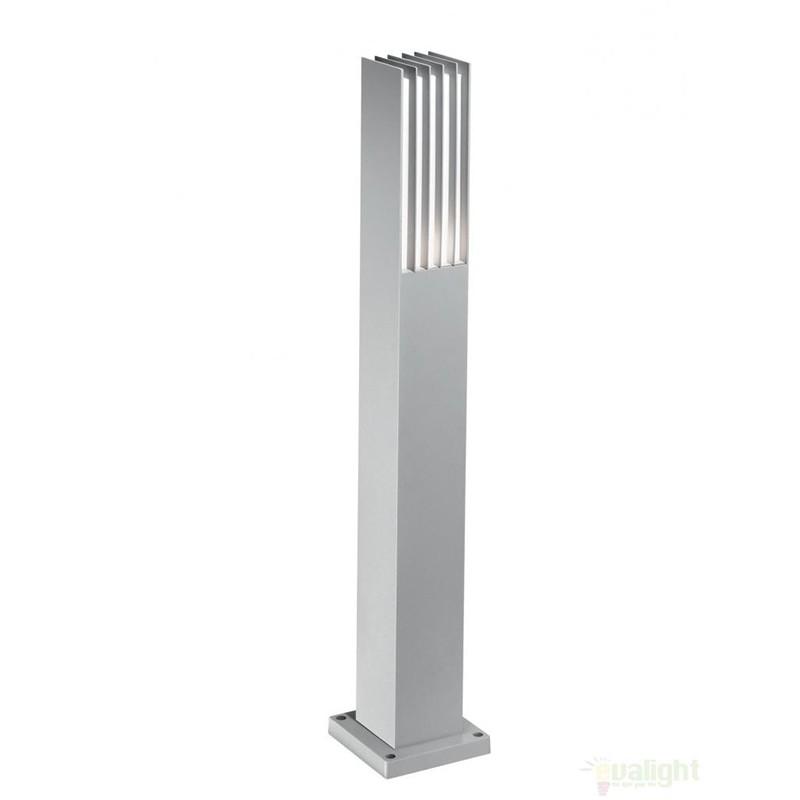 Stalp exterior H-80cm, finisaj gri, MARTE PT1 092249, Stalpi de iluminat exterior mici si medii , Corpuri de iluminat, lustre, aplice a