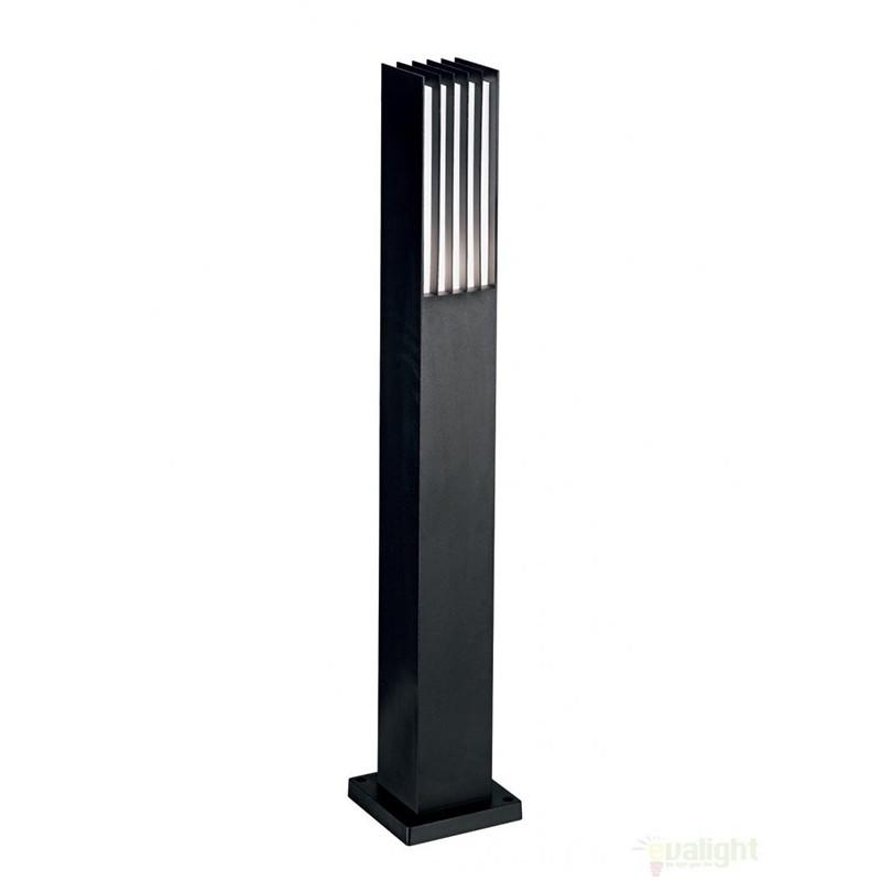 Stalp exterior H-80cm, finisaj negru, MARTE PT1 092232, Stalpi de iluminat exterior mici si medii , Corpuri de iluminat, lustre, aplice a