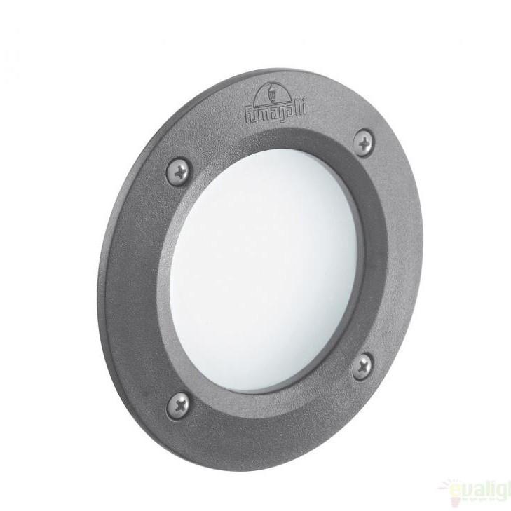 Spot incastrabil pt. exterior, diam.13,4cm, IP66, LED LETI ROUND FI1 GRIGIO 096568, Iluminat exterior incastrabil , Corpuri de iluminat, lustre, aplice a
