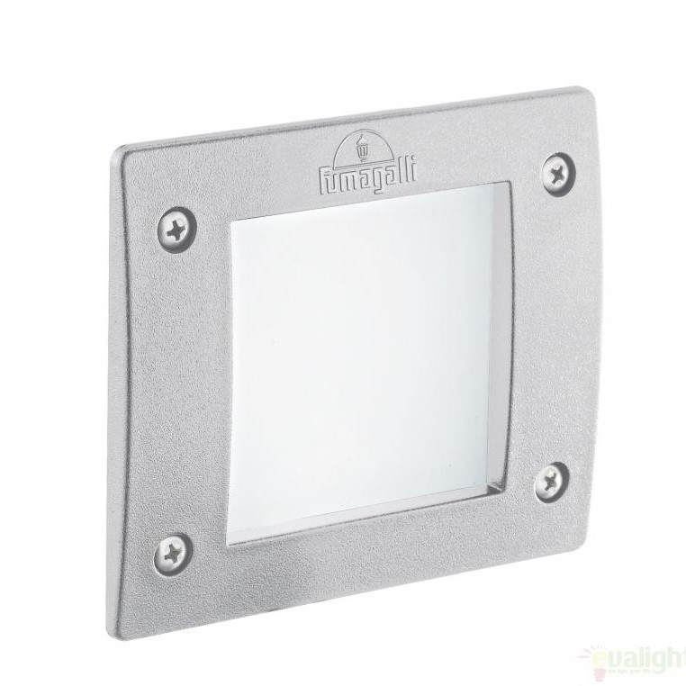 Spot incastrabil pt. exterior, dim.11,5x11,5cm, IP66, LED LETI SQUARE FI1 BIANCO 096575, Iluminat exterior incastrabil , Corpuri de iluminat, lustre, aplice a