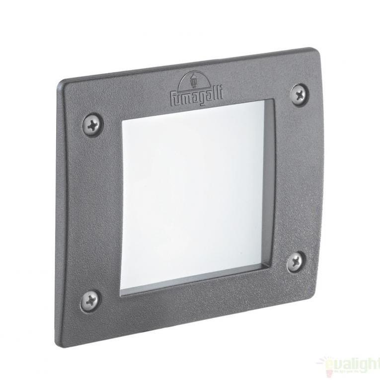 Spot incastrabil pt. exterior, dim.11,5x11,5cm, IP66, LED LETI SQUARE FI1 GRIGIO 096599, Iluminat exterior incastrabil , Corpuri de iluminat, lustre, aplice a