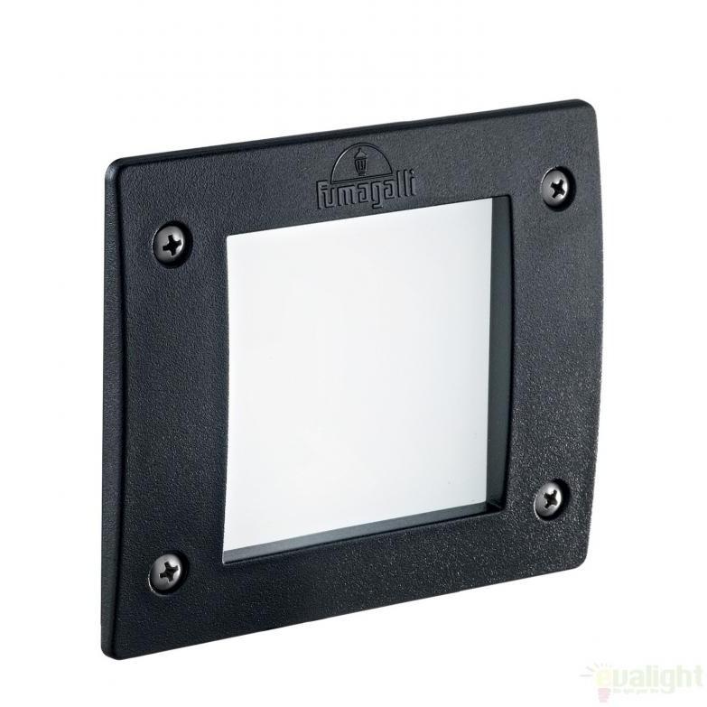 Spot incastrabil pt. exterior, dim.11,5x11,5cm, IP66, LED LETI SQUARE FI1 NERO 096582, Iluminat exterior incastrabil , Corpuri de iluminat, lustre, aplice a