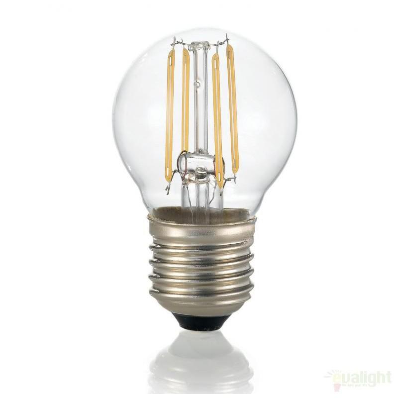 Bec LED E27 4W SFERA TRASPARENTE 3000K 101279, Becuri E27 LED pentru iluminat interior si exterior.⭐Cumpara online si ai livrare Acasa.✅Modele decorative vintage, LED si clasice cu filament Edison style.❤️Promotii la becuri E27 Economice si cu Halogen❗ Alege oferte speciale la Becuri cu soclu de tip E27 potrivite pentru corpurile de iluminat: casa, baie, terasa, balcon si gradina❗ Cele mai bune becuri si surse de iluminat inteligente: cu senzor de miscare (telecomanda), (solare) cu consum redus de energie, surse incandescente cu dulie si soclu normale (ceramica, sticla, plastic, aluminiu), LED dimabile cu lumina calda (3000K), lumina rece alba (6500K) si lumina neutra (4000K), lumina naturala, flux luminos cu lumeni multi, bec LED echivalent 60W / 100W / 150W tensinea curentului electric este de 12V fata de 220V (Volti), si durata mare de viata, becuri cu lumina puternica stralucitoare, colorate si multicolore, cu forma de lumanare, mari mari si rezistente la caldura si la apa, ce se aprinde instant la trecerea curentului electric, ieftine si de lux, cu garantie si de calitate deosebita la cel mai bun pret❗ a