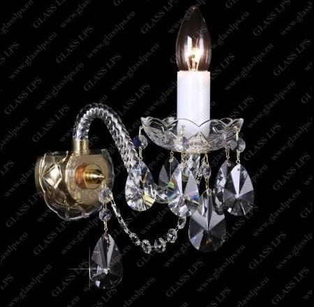 Aplica de perete cu 1 brat, cristal Bohemia N21 120/01/1-A , Aplice Cristal Bohemia, Corpuri de iluminat, lustre, aplice, veioze, lampadare, plafoniere. Mobilier si decoratiuni, oglinzi, scaune, fotolii. Oferte speciale iluminat interior si exterior. Livram in toata tara.  a