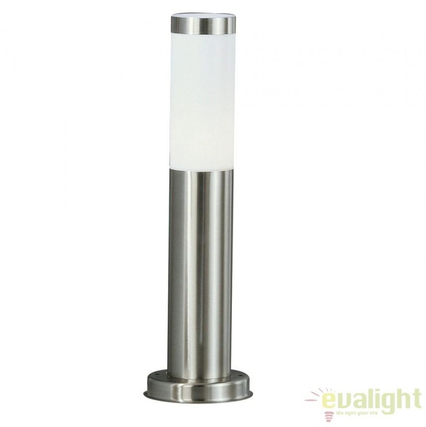 Stalp de exterior modern cu iluminat LED inaltime 45cm cu protectie IP44, BOSTON LED 3158LED GL, Stalpi de iluminat exterior mici si medii , Corpuri de iluminat, lustre, aplice a