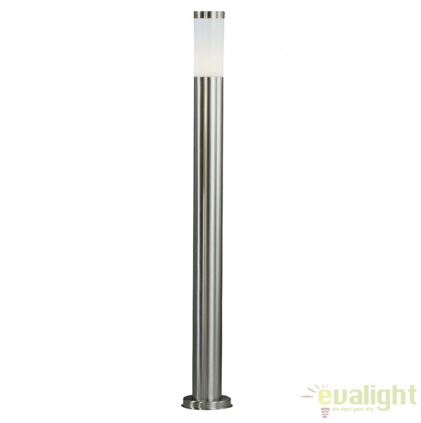 Stalp de exterior modern cu iluminat LED inaltime 110cm cu protectie IP44, BOSTON LED 3159LED GL, Stalpi de iluminat exterior mici si medii , Corpuri de iluminat, lustre, aplice a