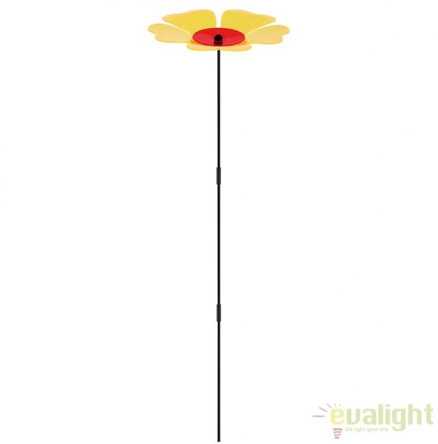 Floare decorativa de gradina, 33612Y GL, Iluminat solare si decorative, Corpuri de iluminat, lustre, aplice, veioze, lampadare, plafoniere. Mobilier si decoratiuni, oglinzi, scaune, fotolii. Oferte speciale iluminat interior si exterior. Livram in toata tara.  a