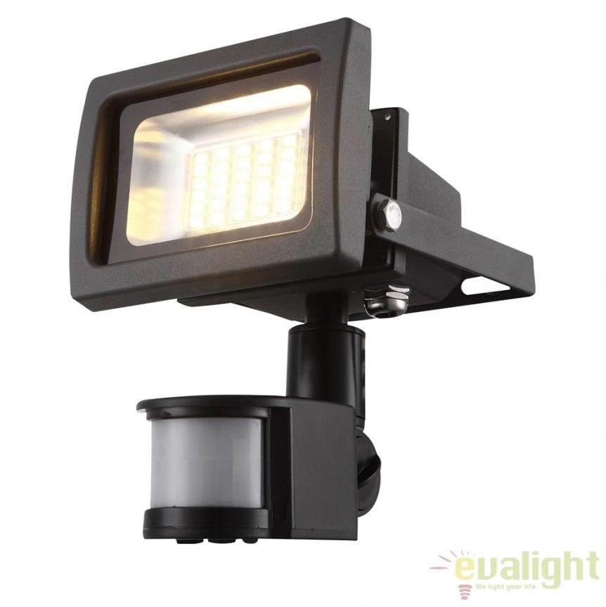 Proiector de exterior cu senzor de miscare, iluminat LED, protectie IP44, Radiator IV 34108S GL, Iluminat cu senzor de miscare, Corpuri de iluminat, lustre, aplice, veioze, lampadare, plafoniere. Mobilier si decoratiuni, oglinzi, scaune, fotolii. Oferte speciale iluminat interior si exterior. Livram in toata tara.  a