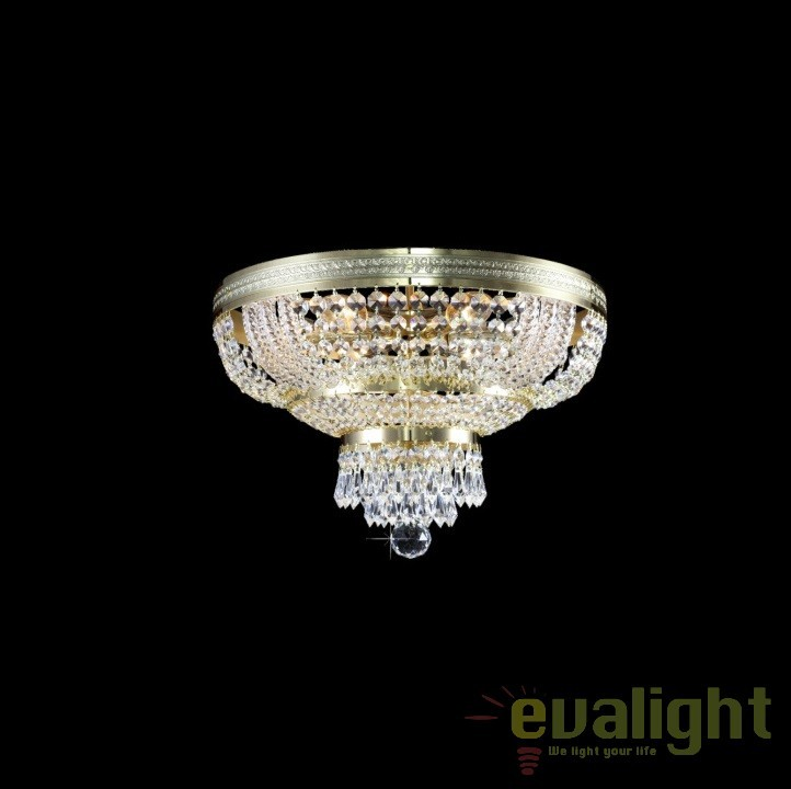 Plafoniera cristal Bohemia diam.40cm, L15 505/06/3; F 2 floor, arms, Plafoniere Cristal Bohemia, Corpuri de iluminat, lustre, aplice, veioze, lampadare, plafoniere. Mobilier si decoratiuni, oglinzi, scaune, fotolii. Oferte speciale iluminat interior si exterior. Livram in toata tara.  a