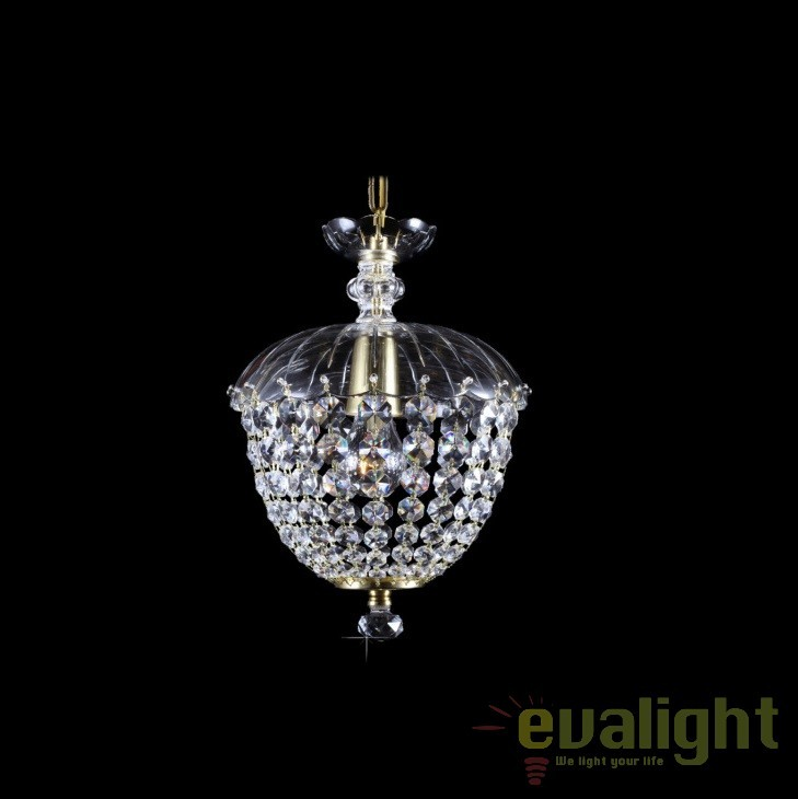 Pendul cristal Bohemia diam.25cm, L15 508/01/6, Pendule Cristal Bohemia, Corpuri de iluminat, lustre, aplice, veioze, lampadare, plafoniere. Mobilier si decoratiuni, oglinzi, scaune, fotolii. Oferte speciale iluminat interior si exterior. Livram in toata tara.  a