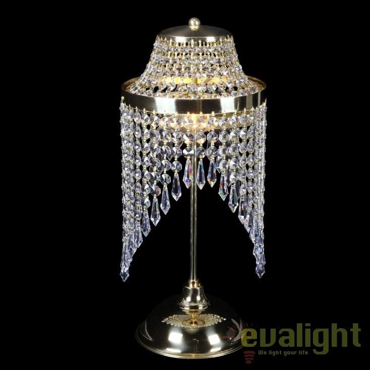 Veioza, lampa de masa LUX cristal Bohemia S35 002/02/3, Veioze Cristal, Corpuri de iluminat, lustre, aplice, veioze, lampadare, plafoniere. Mobilier si decoratiuni, oglinzi, scaune, fotolii. Oferte speciale iluminat interior si exterior. Livram in toata tara.  a