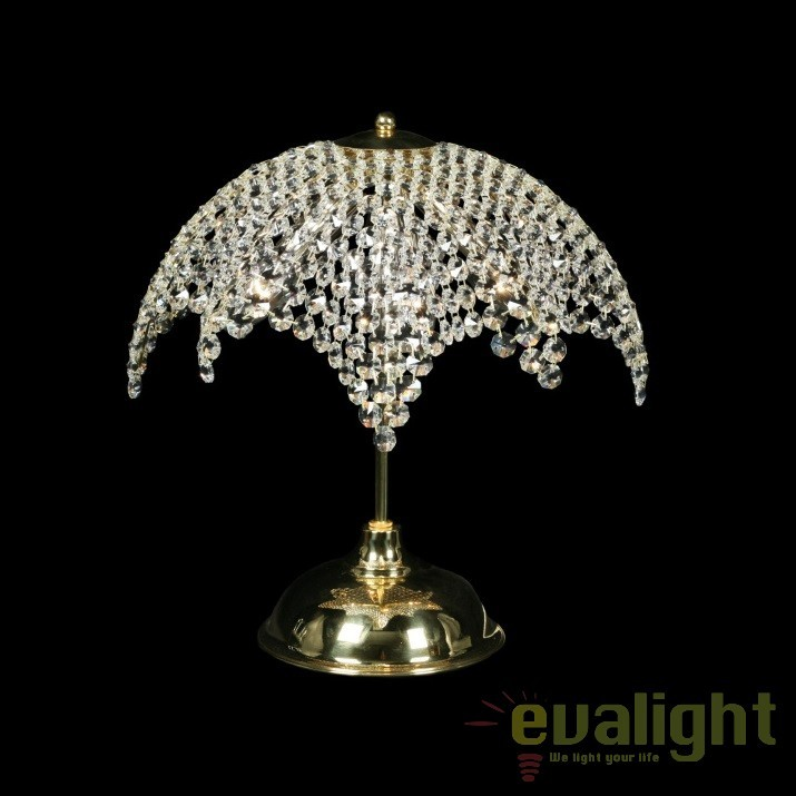 Veioza, lampa de masa LUX cristal Bohemia S35 113/04/6, Veioze Cristal Bohemia, Corpuri de iluminat, lustre, aplice, veioze, lampadare, plafoniere. Mobilier si decoratiuni, oglinzi, scaune, fotolii. Oferte speciale iluminat interior si exterior. Livram in toata tara.  a