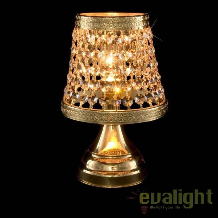 Veioza, lampa de masa LUX cristal Bohemia S35 369/01/6, Veioze Cristal, Corpuri de iluminat, lustre, aplice, veioze, lampadare, plafoniere. Mobilier si decoratiuni, oglinzi, scaune, fotolii. Oferte speciale iluminat interior si exterior. Livram in toata tara.  a