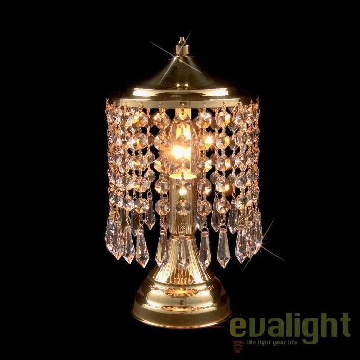 Veioza, lampa de masa LUX cristal Bohemia S35 580/01/3, Veioze Cristal, Corpuri de iluminat, lustre, aplice, veioze, lampadare, plafoniere. Mobilier si decoratiuni, oglinzi, scaune, fotolii. Oferte speciale iluminat interior si exterior. Livram in toata tara.  a