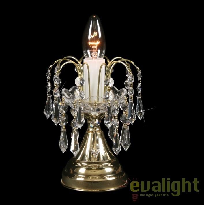 Veioza, lampa de masa LUX cristal Bohemia S35 590/01/3, Veioze Cristal Bohemia, Corpuri de iluminat, lustre, aplice, veioze, lampadare, plafoniere. Mobilier si decoratiuni, oglinzi, scaune, fotolii. Oferte speciale iluminat interior si exterior. Livram in toata tara.  a