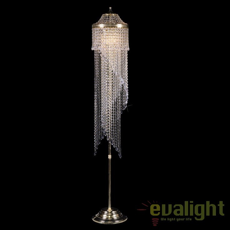 Lampadar, lampa de podea LUX cristal Bohemia S45 012/05/3, Lampadare Cristal Bohemia, Corpuri de iluminat, lustre, aplice, veioze, lampadare, plafoniere. Mobilier si decoratiuni, oglinzi, scaune, fotolii. Oferte speciale iluminat interior si exterior. Livram in toata tara.  a