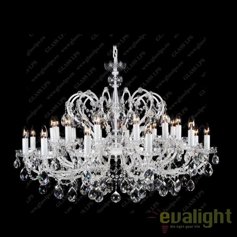 Lustra Maria Theresa cu 24 brate, cristal Bohemia diam.115cm, L14 504/24/1, Lustre Cristal Bohemia, Corpuri de iluminat, lustre, aplice, veioze, lampadare, plafoniere. Mobilier si decoratiuni, oglinzi, scaune, fotolii. Oferte speciale iluminat interior si exterior. Livram in toata tara.  a