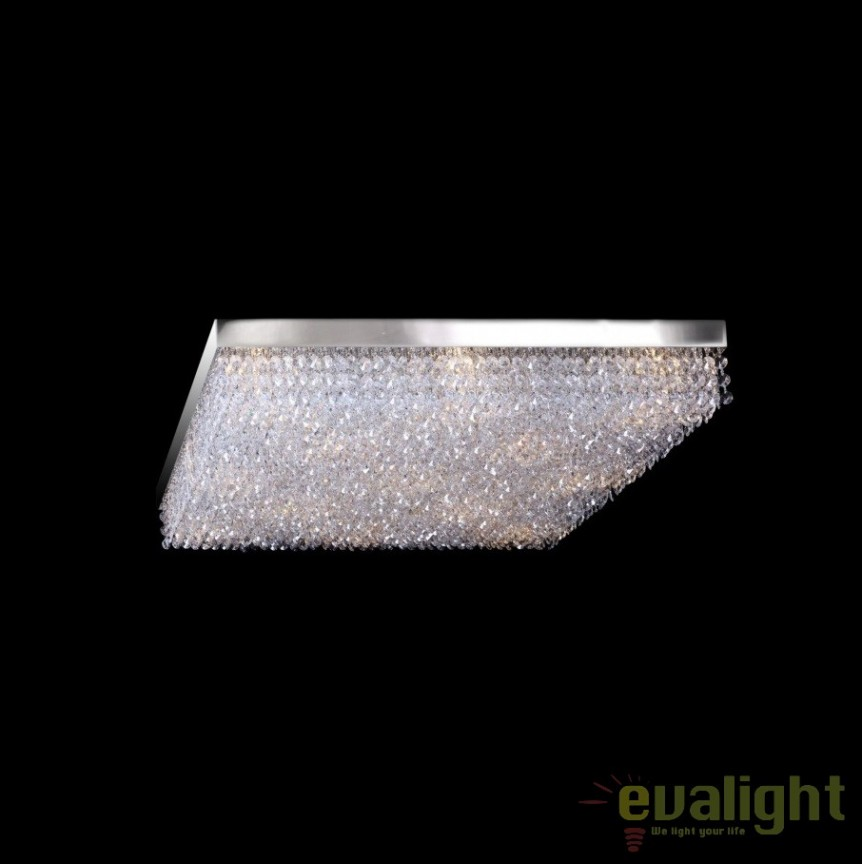 Plafoniera moderna cristal Bohemia dim.44x44cm, L17 250/05/6; Ni, Plafoniere Cristal Bohemia, Corpuri de iluminat, lustre, aplice, veioze, lampadare, plafoniere. Mobilier si decoratiuni, oglinzi, scaune, fotolii. Oferte speciale iluminat interior si exterior. Livram in toata tara.  a