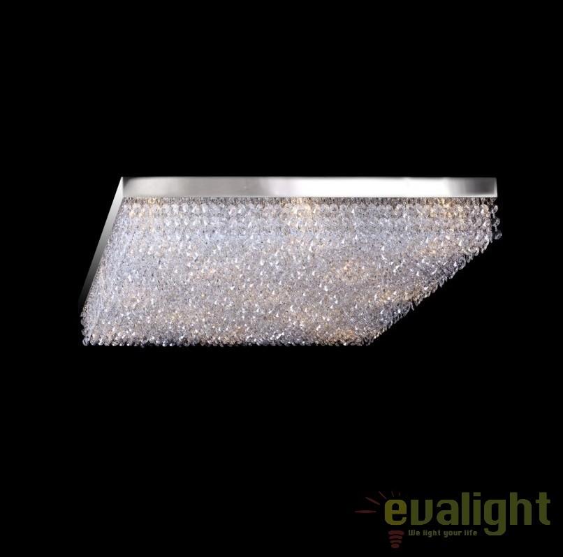 Plafoniera moderna cristal Bohemia dim.60x60cm, L17 250/09/6; Ni, Plafoniere Cristal Bohemia, Corpuri de iluminat, lustre, aplice, veioze, lampadare, plafoniere. Mobilier si decoratiuni, oglinzi, scaune, fotolii. Oferte speciale iluminat interior si exterior. Livram in toata tara.  a