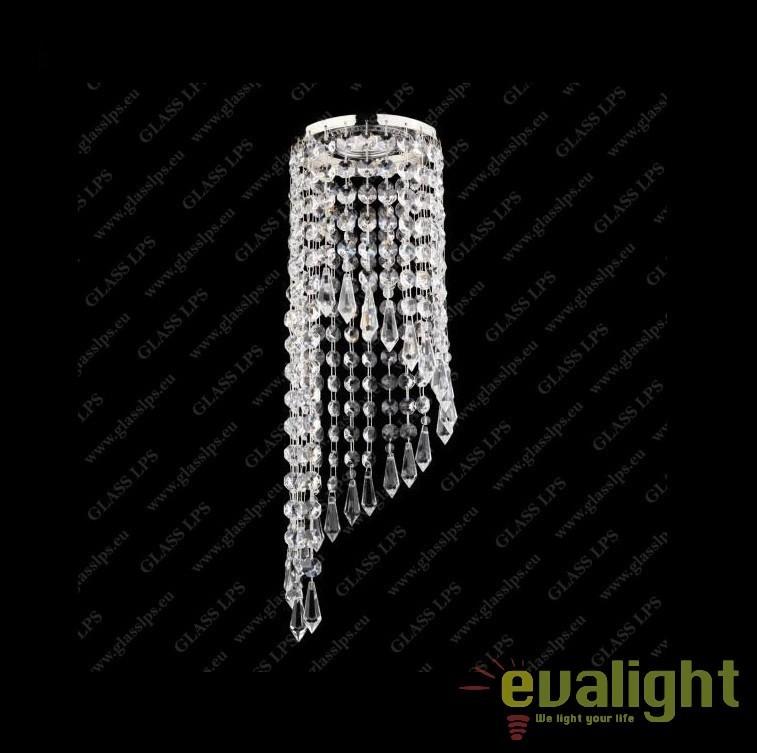 Spot tavan fals cristal Bohemia diam.12cm, L17 561/01/3; Ni, Spoturi tavan fals cristal, Corpuri de iluminat, lustre, aplice, veioze, lampadare, plafoniere. Mobilier si decoratiuni, oglinzi, scaune, fotolii. Oferte speciale iluminat interior si exterior. Livram in toata tara.  a
