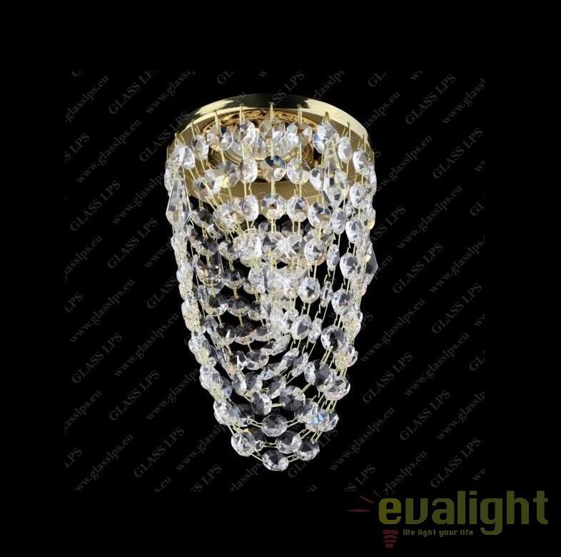 Spot tavan fals cristal Bohemia diam.12cm, L17 562/01/3, Spoturi tavan fals cristal, Corpuri de iluminat, lustre, aplice, veioze, lampadare, plafoniere. Mobilier si decoratiuni, oglinzi, scaune, fotolii. Oferte speciale iluminat interior si exterior. Livram in toata tara.  a