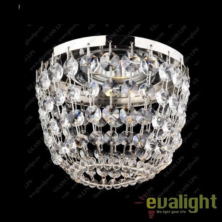 Spot tavan fals cristal Bohemia diam.12cm, L17 563/01/6; Ni, Spoturi tavan fals cristal, Corpuri de iluminat, lustre, aplice, veioze, lampadare, plafoniere. Mobilier si decoratiuni, oglinzi, scaune, fotolii. Oferte speciale iluminat interior si exterior. Livram in toata tara.  a