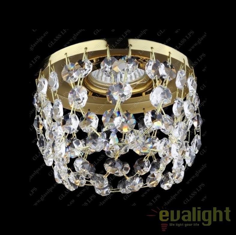 Spot tavan fals cristal Bohemia diam.12cm, L17 566/01/6, Spoturi tavan fals cristal, Corpuri de iluminat, lustre, aplice, veioze, lampadare, plafoniere. Mobilier si decoratiuni, oglinzi, scaune, fotolii. Oferte speciale iluminat interior si exterior. Livram in toata tara.  a