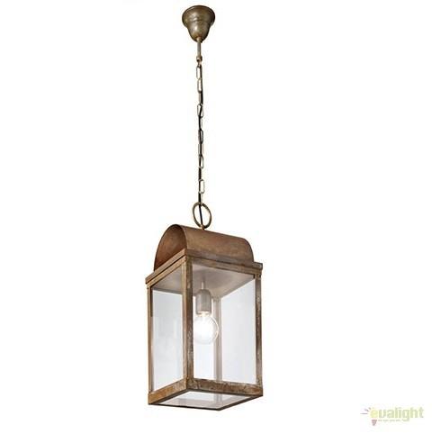Pendul rustic de exterior, fabricat manual, IP65,Lanterne 265.07, Lustre, Pendule suspendate de exterior, Corpuri de iluminat, lustre, aplice a