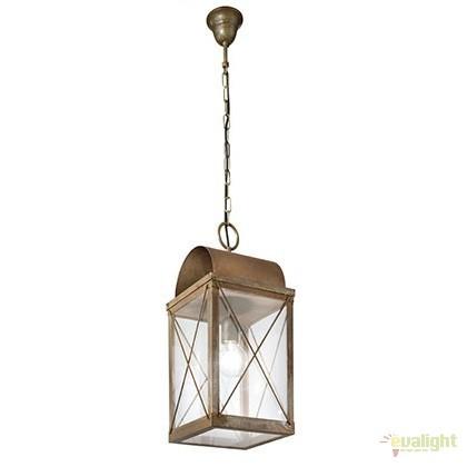 Pendul rustic de exterior, fabricat manual, IP65, Lanterne 265.17, Lustre, Pendule suspendate de exterior, Corpuri de iluminat, lustre, aplice a