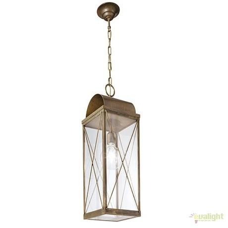 Pendul rustic de exterior, fabricat manual, IP65, Lanterne 265.18, Lustre, Pendule suspendate de exterior, Corpuri de iluminat, lustre, aplice a