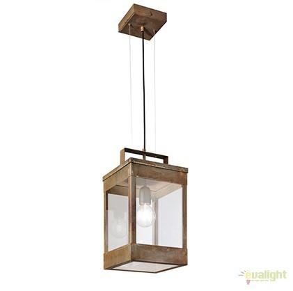 Pendul rustic de exterior, fabricat manual, IP65, Lanterne 266.07, Lustre, Pendule suspendate de exterior, Corpuri de iluminat, lustre, aplice a
