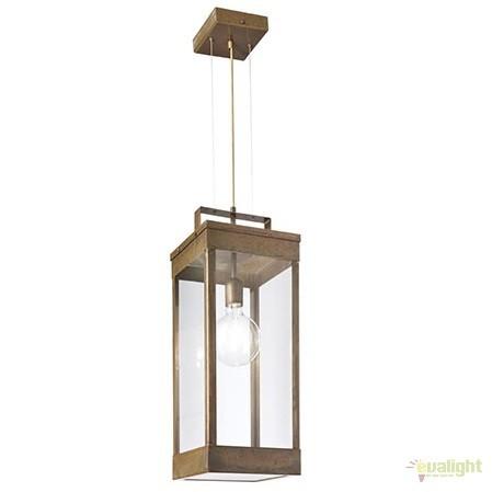 Pendul rustic de exterior, fabricat manual, IP65, Lanterne 266.08, Lustre, Pendule suspendate de exterior, Corpuri de iluminat, lustre, aplice a