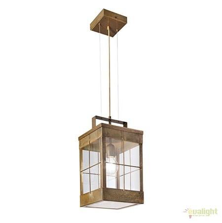 Pendul rustic de exterior, fabricat manual, IP65, Lanterne 266.17, Lustre, Pendule suspendate de exterior, Corpuri de iluminat, lustre, aplice a