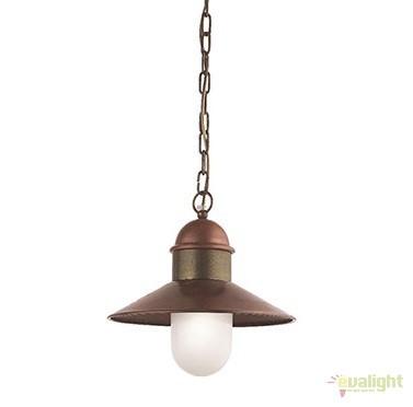 Pendul de exterior, diam.34cm, IP43 Borgo 244.08.OR, Lustre, Pendule suspendate de exterior, Corpuri de iluminat, lustre, aplice a