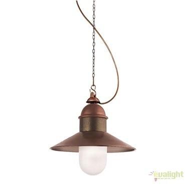 Pendul de exterior, diam.34cm, IP45 Borgo 244.09.OR, Lustre, Pendule suspendate de exterior, Corpuri de iluminat, lustre, aplice a