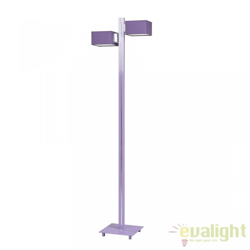 Lampadar, lampa de podea H-152cm FRUGO LP2 Violet 892/LP2 EMB, PROMOTII, Corpuri de iluminat, lustre, aplice, veioze, lampadare, plafoniere. Mobilier si decoratiuni, oglinzi, scaune, fotolii. Oferte speciale iluminat interior si exterior. Livram in toata tara.  a