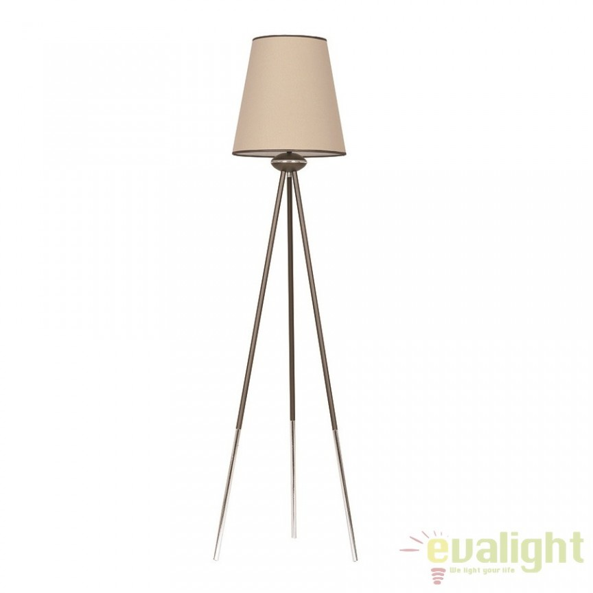 Lampadar, lampa de podea cu trepied H-162cm, BARISTON LP1 492/LP1 EMB, PROMOTII, Corpuri de iluminat, lustre, aplice, veioze, lampadare, plafoniere. Mobilier si decoratiuni, oglinzi, scaune, fotolii. Oferte speciale iluminat interior si exterior. Livram in toata tara.  a