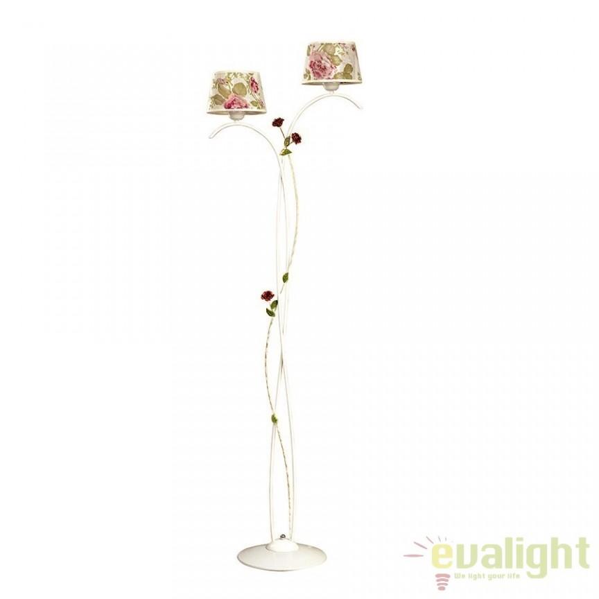 Lampadar, lampa de podea clasica cu 2 brate, SUMMER LP2 139/LP2 EMB, Lampadare clasice, Corpuri de iluminat, lustre, aplice a