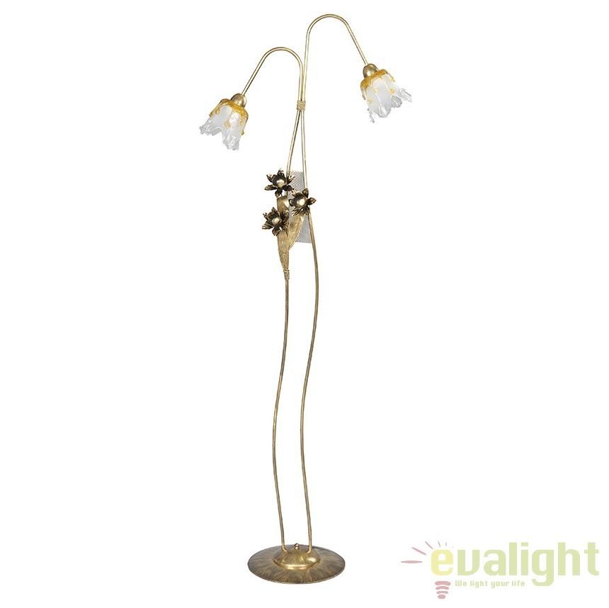 Lampadar, lampa de podea clasica cu 2 brate, KORAL LP2 118/LP2 EMB, Lampadare clasice, Corpuri de iluminat, lustre, aplice a