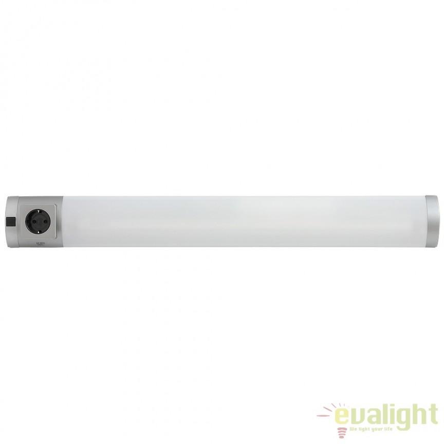 Aplica de perete, mobila bucatarie, cu intrerupator si priza, L-73cm, Soft 2327 RX , Iluminat tehnic pentru scafe, bucatarie, Corpuri de iluminat, lustre, aplice a