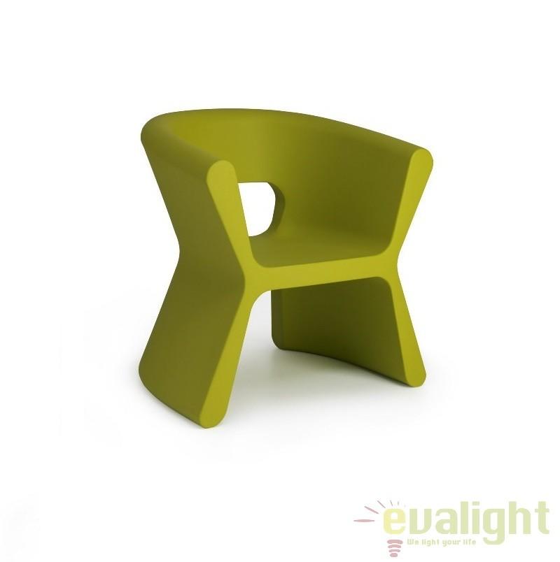 Scaun design modern, exterior, interior, PAL ARMCHAIR 51005 VERDE Vondom, Scaune dining , Corpuri de iluminat, lustre, aplice a