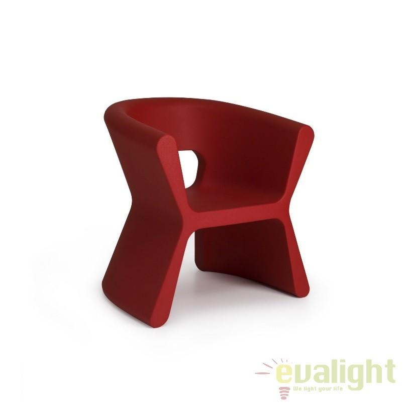 Scaun design modern, exterior, interior, PAL ARMCHAIR 51005-rosu Vondom, Scaune dining , Corpuri de iluminat, lustre, aplice a
