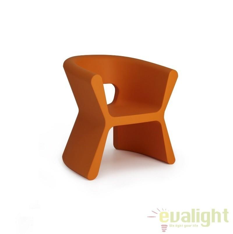Scaun design modern, exterior, interior, PAL ARMCHAIR 51005-portocaliu Vondom, Scaune dining , Corpuri de iluminat, lustre, aplice a