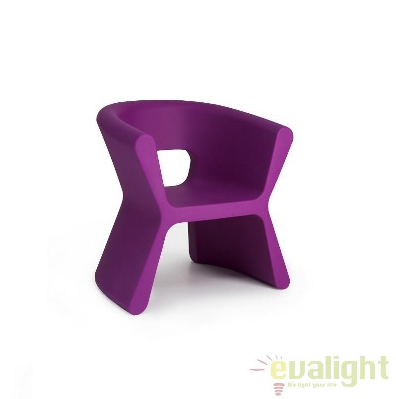 Scaun design modern, exterior, interior, PAL ARMCHAIR 51005-violet Vondom, Scaune dining , Corpuri de iluminat, lustre, aplice a