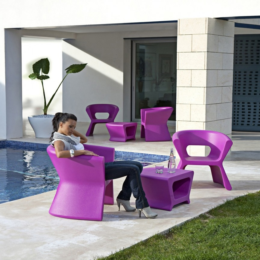 Scaun / Fotoliu de exterior / interior design modern premium PAL ARMCHAIR 51005 Vondom, Magazin,  a