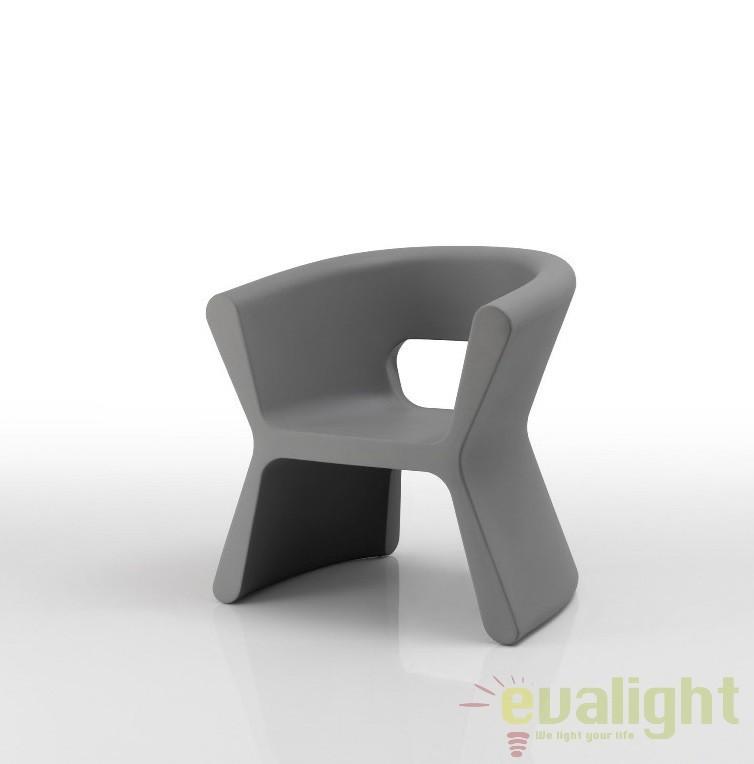 Scaun design modern, exterior, interior, PAL ARMCHAIR 51005-gri Vondom, Scaune dining , Corpuri de iluminat, lustre, aplice a