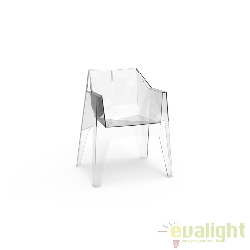 Scaun design minimalist, exterior, interior, VOXEL CHAIR 51031-ICE Vondom, Scaune dining , Corpuri de iluminat, lustre, aplice a