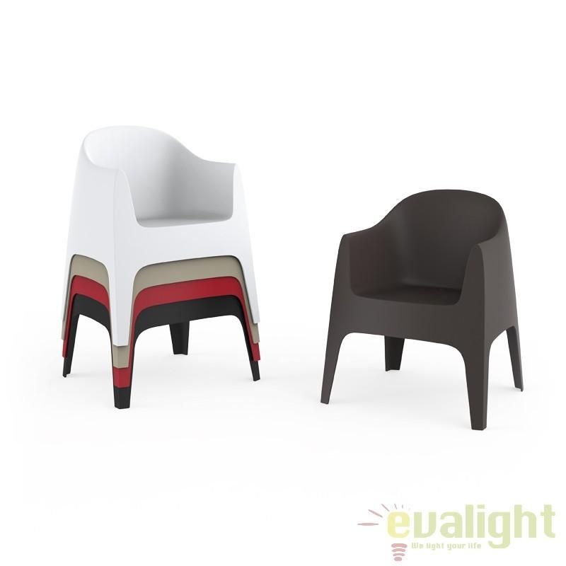 Fotoliu-Scaun design modern, exterior, interior, SOLID CHAIR 55027 Vondom, Fotolii - Fotolii extensibile, Corpuri de iluminat, lustre, aplice a