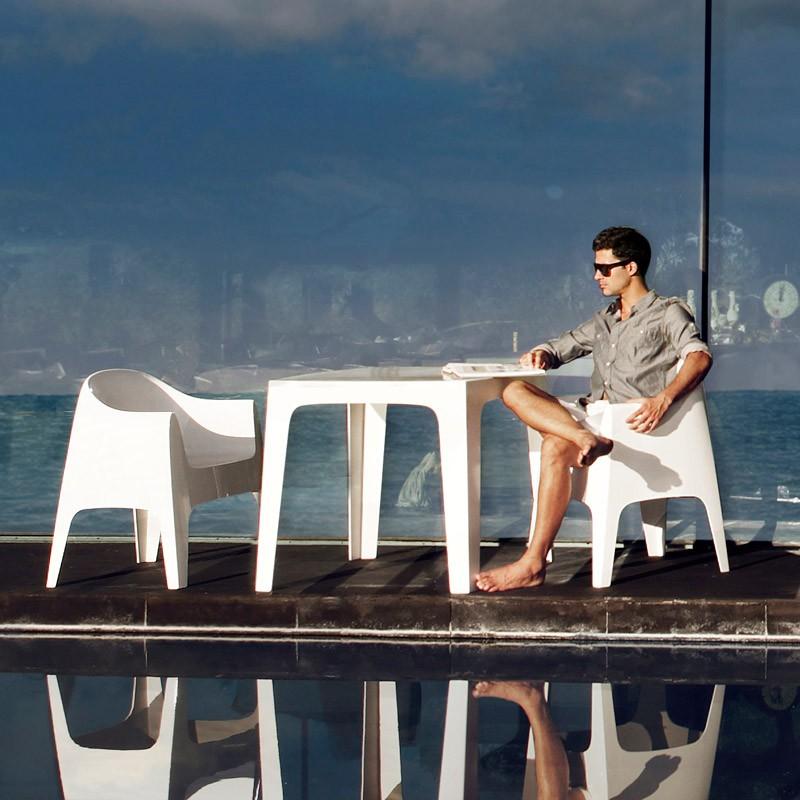 Set de 4 Scaune moderne de exterior / interior design premium SOLID ARMCHAIR 55027 Vondom,  a